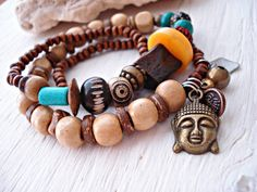 Yoga Bracelet  Yoga Jewellery  Buddha Jewellery by HandcraftedYoga, $34.00