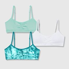 Hanes Girls' Bonus Pack Seamless Molded Wireless Bra - Green/White/Teal L, Girl's, Size: Large, MultiColored Justice Girls Clothes, Clothes For Women, Crop Top Outfits, Cute Outfits, Casual Outfits, Fashion Outfits, Justice Bras, Zack Y Cody, Old Bras