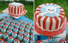 Pirate cake cupcakes skull #birthday