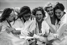 Photo by Peter Lindbergh 2003 Six Girl, Girl Day, Peter Lindbergh, Photography Women, Editorial Photography, Photography Magazine, Vogue Cover, Vogue Models, Runway Models
