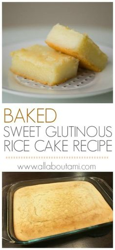 Baked Sweet Glutinous Rice Cake Recipe (Lian Gao) food recipe desserts Baked Sweet Glutinous Rice Cake Recipe (Lian Gao) - All About Ami Sweet Rice Flour Recipe, Rice Flour Recipes, Rice Cake Recipes, Baking Recipes, Dessert Recipes, Chinese Sticky Rice Cake Recipe, Chinese Biscuits Recipe, Sweet Rice Recipe Filipino, Korean Rice Cake