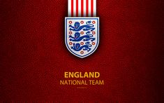 Download wallpapers England national football team, 4k, leather texture, emblem, logo, football, England, Europe