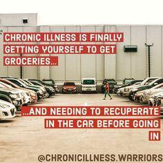 #chronicillnessis #chronicillness #chronicillnesswarrior ... more #Regram via @chronicillness.warriors Chronic Migraines, Chronic Illness, Chronic Pain, Endometriosis, Rheumatoid Arthritis, Complex Regional Pain Syndrome, Anxiety Tips, Crps, Thyroid Problems