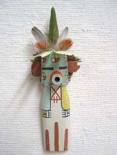 Old Style Hopi Carved Cactus Flower Traditional Plant Katsina Doll