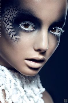 Make-up - White eyelashes... POST YOUR FREE LISTING TODAY!   Hair News Network.  All Hair. All The Time.  http://www.HairNewsNetwork.com