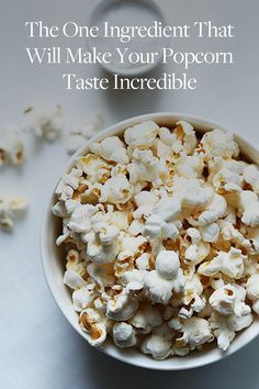 The One Ingredient That Will Make Your Popcorn Taste Incredible via @PureWow