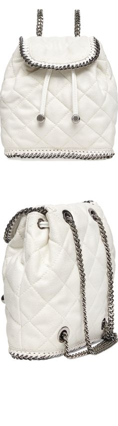 Stella McCartney Falabella Quilted Mini Backpack, (shown above in Chalk)