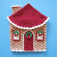 Ravelry: Navidad en Gingerbread Land agarradores decorativos o arte de la pared patrón por Elizabeth Ann White