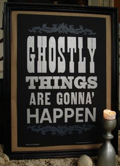 Ghostly Things print by @RollandTumble Press available on bourbonandboots.com $25