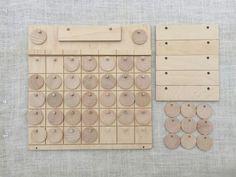 Bon Apetit Calendar Wooden Calendar Perpetual Calendar Wooden