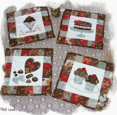 """Val Laird It's a set of four placemats called """"Chocolate Delight"""" - eye candy without the weight gain! The fabric I have used is called """"Double Chocolat"""" by 3 Sisters"""