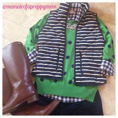 Stripes and Polka Dots from J Crew (@memoirofapreppymom IG)