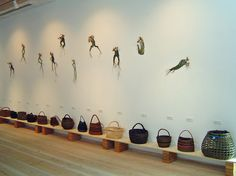 J. Carrigan. Assorted works and a display of dancing figures on the wall by Eva Seidenfaden | Flickr - Photo Sharing!