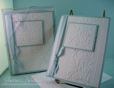 Great use of small embossing folder for simple gift sets...Sharon Johnson (12/2007)
