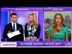 Freelee live on another TV Morning show Australia Wide! Mono meal diet