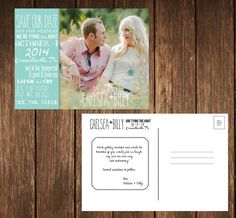 Rustic Save the Date by YourDayPerfectPaper on Etsy, $12.00
