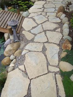 Japanese garden pathway- god i need a house with a yard