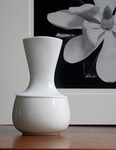 Rosenthal+Vase+Tapio+Wirkkala+White+Modern+Vase+Porcelain+Vase