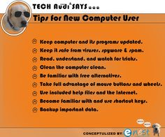 Tips for New Computer User #Tips #New_Computer_User
