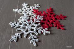 Haakpatroon sneeuwvlokken , lees meer over het patroon op Haakinformatie