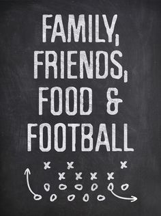 Family, Friends and Football Chalkboard Printable