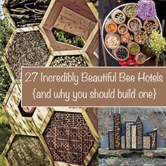 27 Incredibly Beautiful Bee Hotels (And Why You Should Build One) – Page 9 – Off Grid World Bug Hotel, Mason Bees, Bee House, Bee Friendly, Birds And The Bees, Save The Bees, Bee Keeping, Dream Garden, Garden Projects