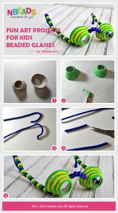 Fun Art Projects for Kids-Beaded Glasses diy crafts kids crafts kids craft diy glasses craft ideas diy ideas