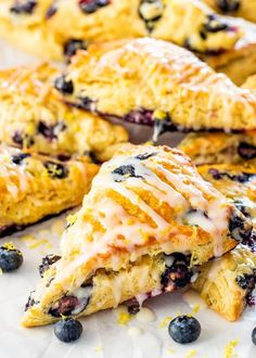 These Lemon Blueberry Scones are light and fluffy, sweet and tangy, but most of all, simply delicious. So easy to make, perfect for breakfast and a great Mother's Day treat. #lemonblueberryscones #scones