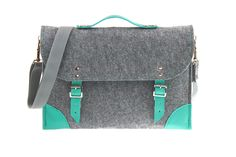 Felt Laptop bag 13 inch with pocket sleeve macbook by etoidesign, $39.00
