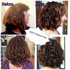 Dianne Nola - First Certified Deva Stylist in Northern California. Lorraine Massey, of Curly Girl: The Handbook booksigning April 2 - 4 PM Wavy Hair 2c, Fine Curly Hair, Curly Girl, Curly Bob, Curly Hair Styles, Curly Hair Specialist, Shoulder Haircut, Deva Curl, Natural Curls