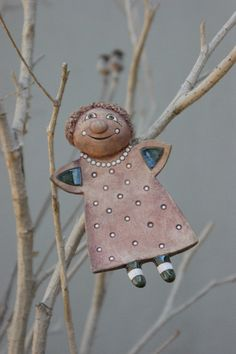 Clay Ornaments, Angel Ornaments, Ceramic Figures, Ceramic Art, Clay Angel, Pottery Angels, Handmade Angels, Christmas Clay, Hand Built Pottery