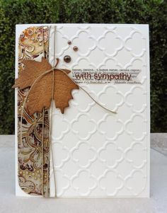 Card Making | Sympathy Card | Scrapbooking | Cards | Creative Scrapbooker Magazine #cards #Scrapbooking