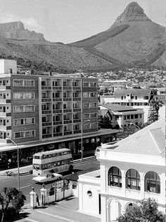 Taken from Jessica Court with a view on Main Rd. South African Air Force, Cape Town South Africa, Out Of Africa, African History, Old Photos, Paris Skyline, Exterior, Sea, Afrikaans
