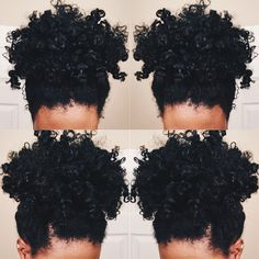 THICK Natural hair PONYTAIL http://www.shorthaircutsforblackwomen.com/curl-defining-products/