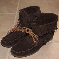 Men's Cork Moosehide Leather Moccasins Boots 137597M-Cork | Corks ...