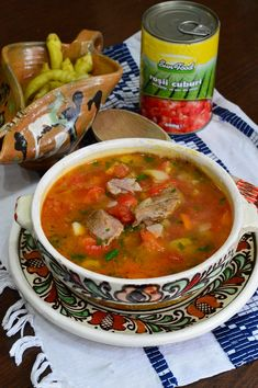 Cooking Time, Cooking Recipes, Pork Soup, Jacque Pepin, Romanian Food, Lebanese Recipes, Tasty, Yummy Food, Healthy Soup