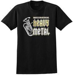 Euphonium Master Heavy Metal - Black T Shirt Chest 39 Medium MusicaliTee