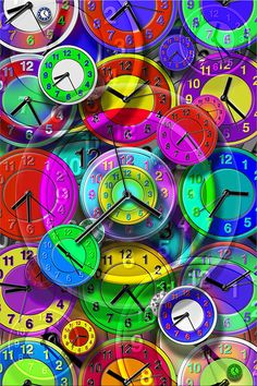 Colourful clocks