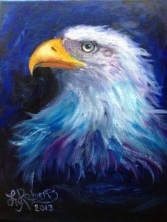 SPEED PAINTING Eagle in Oils ~ Lysa Roberts - YouTube