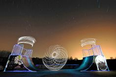 """""""Spirograph III"""" at a skatepark - by Ben Matthews - obviously a long exposure, but you can even see the movement of the stars in the background!"""
