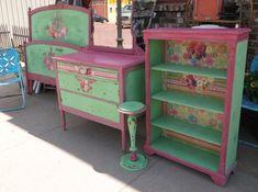 Shabby Chic Bedroom Set-Vintage Furniture