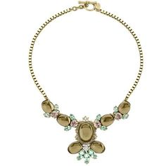 Preowned Anton Heunis Crystal Necklace ($290) ❤ liked on Polyvore featuring jewelry, necklaces, beige, crystal jewellery, toggle clasp necklace, preowned jewelry, crystal necklace and anton heunis necklace