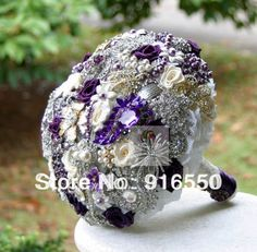 Bridal-wedding-brooch-bouquet-bridal-Jeweled-Bouquet-beaded-bling-rhinestone-silk-flower-wedding-bouquet-purple-bouquet.jpg 640×629 pixels