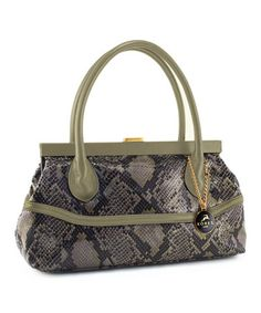 Take a look at this Taupe Snakeskin Frame Shoulder Bag by KORET new york on #zulily today!