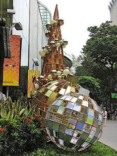 Modern christmas ball display
