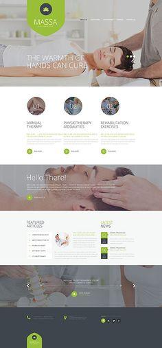 Massage & Chiropractic Center #website #template. #themes #business #responsive