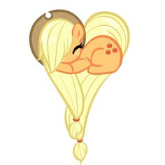 Applejack  Im going to TRY and draw this... Im gonna fail Laptop Stickers, Cute Stickers, Pinkie Pie, My Little Pony Friendship, Heart, Design, I Love You, Ponies, Ideas Para