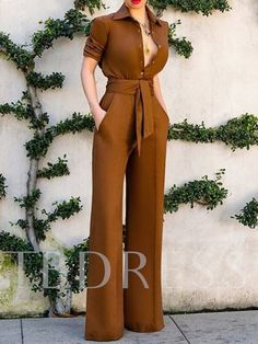 Suit Fashion, Look Fashion, Fashion Dresses, Fashion Details, Classy Outfits, Chic Outfits, Jumpsuit Pattern, Jacket Pattern, Jumpsuit With Sleeves