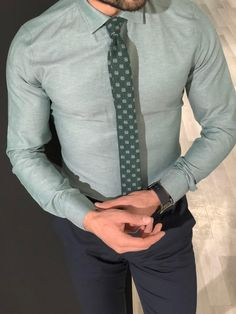 Collection: Fall – Winter Product: Slim Fit Cotton Shirt Color Code: Green Shirt Material: cotton Available Size: S-M-L-XL-XXL Machine Washable: Yes Fitting: Slim-Fit Package Include: Shirt Only Formal Men Outfit, Casual Outfits, Moda Formal, Formal Shirts For Men, Men Dress, Shirt Dress, Designer Suits For Men, Slim Fit Dress Shirts, Mens Fashion Suits