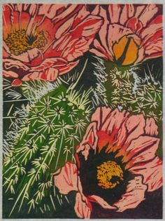 Cactus art - I love the patterns and colours!